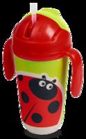 """Eco Baby Поильник детский 300мл с носиком """"Божья-коровка"""""""