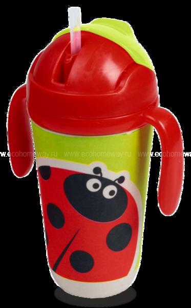 """Eco Baby Поильник детский 300мл с носиком """"Божья-коровка"""" по выгодной цене в Москве"""