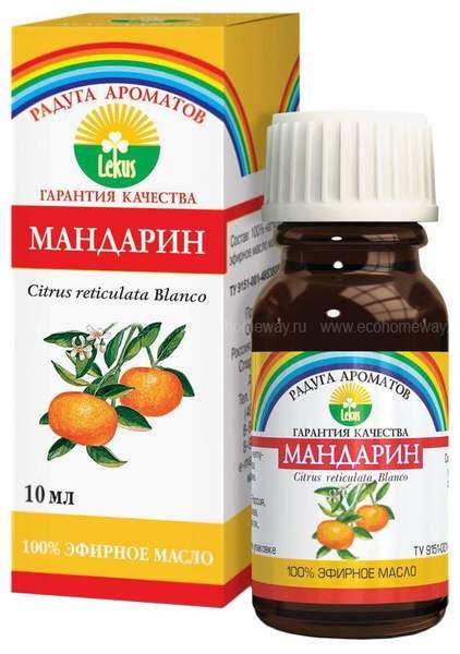 LEKUS Эфирное масло Мандарин 10 мл по выгодной цене в Москве