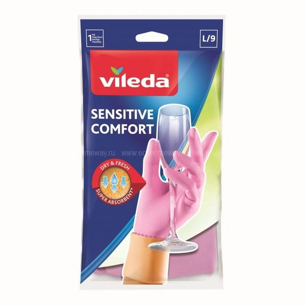 Vileda перчатки для деликатных работ L  по выгодной цене в Москве