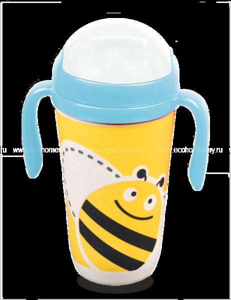 """Eco Baby Поильник детский 350мл с трубочкой """"Пчёлка"""" по выгодной цене в Москве"""