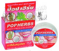 POP Herbs Растительная зубная паста с бамбуковым углем и солью 30 гр