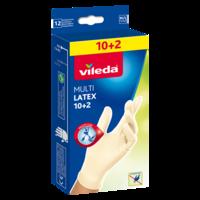 VILEDA Перчатки с бальзамом 10+2 шт размер M/L