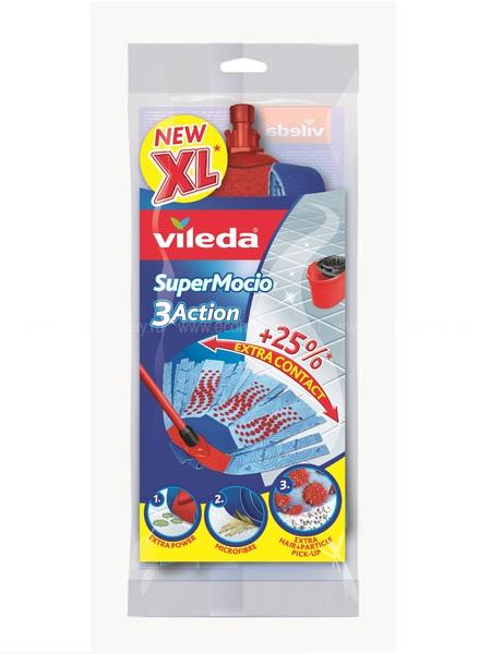 VILEDA Насадка сменная для швабры Вишмоп 3 Action по выгодной цене в Москве