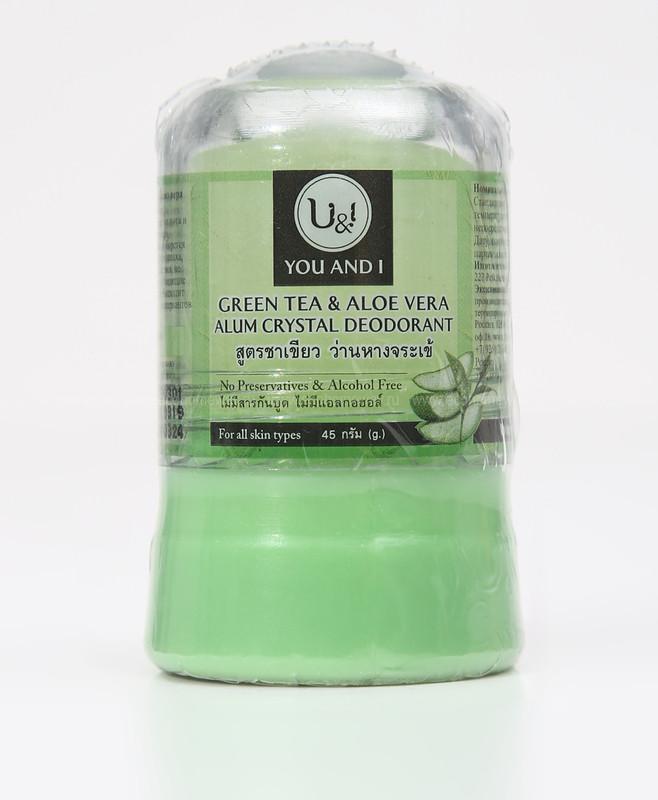U&I  Дезодорант кристаллический с зеленым чаем и алоэ вера 45 гр по выгодной цене в Москве