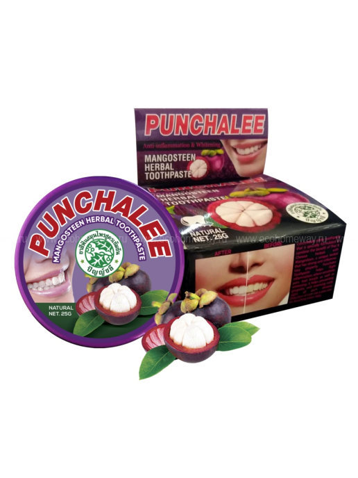 PUNCHALEE Зубная паста растительная с мангостином 25г по выгодной цене в Москве