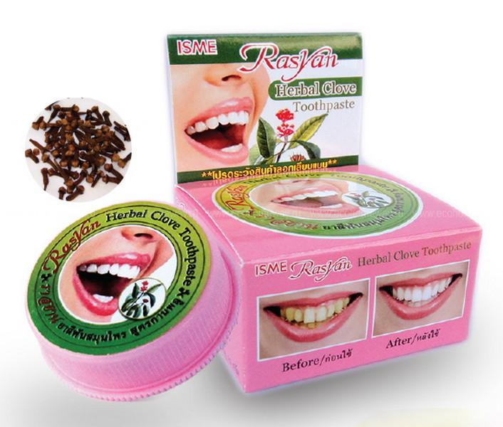 RasYan зубная паста травяная с гвоздикой 25 гр по выгодной цене в Москве