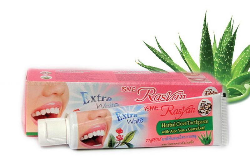 RasYan зубная паста травяная с гвоздикой и гуавой 30 гр по выгодной цене в Москве