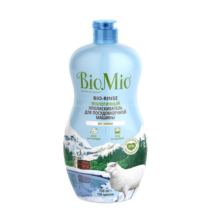 BIO MIO Экологичный ополаскиватель для ПММ 750мл по выгодной цене в Москве