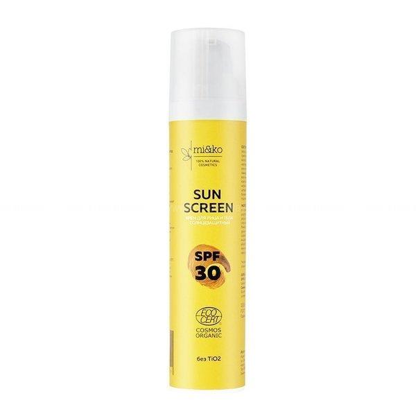 МИКО Крем для лица и тела солнцезащитный Sun Screen SPF30 100мл  по выгодной цене в Москве