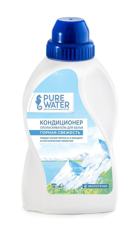 PURE WATER Кондиционер для белья Горная Свежесть 480 мл по выгодной цене в Москве