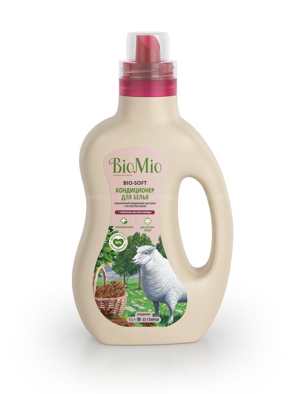 BioMio Экологичный кондиционер для белья с ароматом корицы1000 мл по выгодной цене в Москве