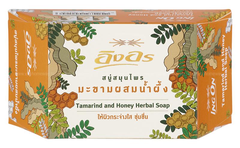 ING ON Мыло растительное с тамариндом и медом 85 гр по выгодной цене в Москве