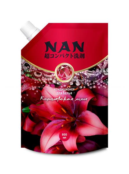 NAN конц. мультикапсульный кондиционер для белья c ароматом королевской лилии, 800 мл  по выгодной цене в Москве