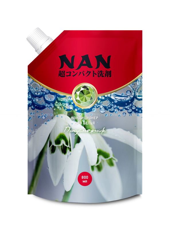 NAN конц. мультикапсульный кондиционер для белья c ароматом подснежника, 800 мл  по выгодной цене в Москве