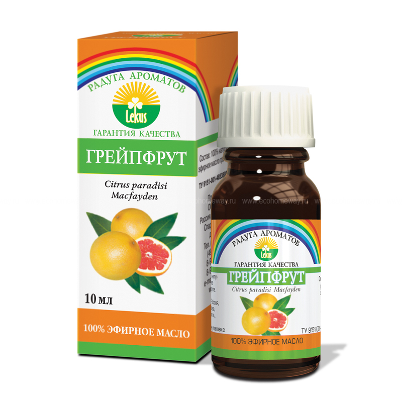 Lekus Эфирное масло Грейпфрут 10 мл по выгодной цене в Москве