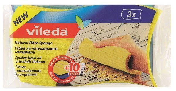 VILEDA Салфетка губчатая утолщенная 3 шт по выгодной цене в Москве