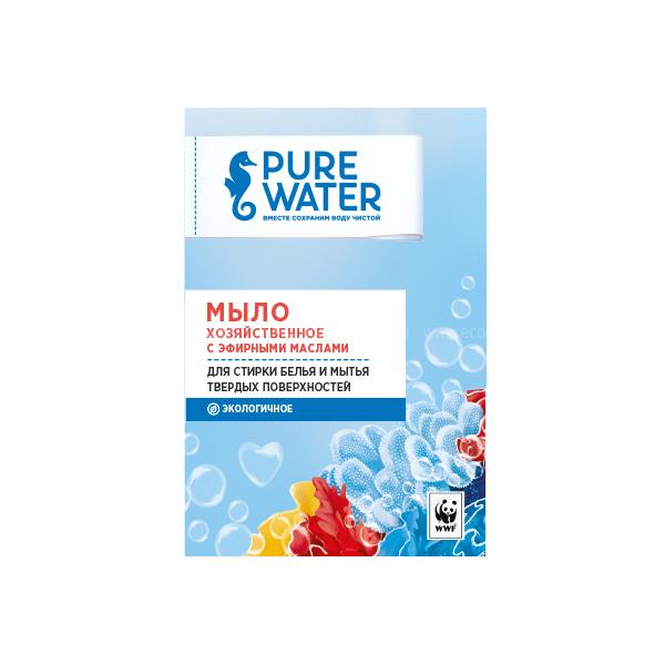 Pure Water Хозяйственное мыло с эфирными маслами 175 г по выгодной цене в Москве
