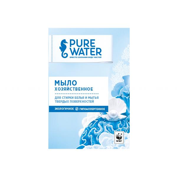 Pure Water Хозяйственное мыло 175 г по выгодной цене в Москве