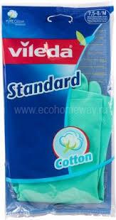 VILEDA Перчатки Стандарт с напылением размер M по выгодной цене в Москве
