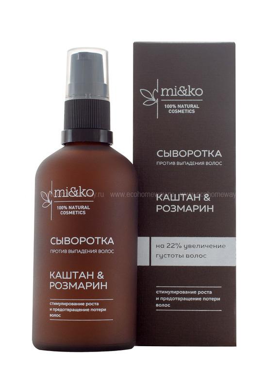 MIKO Сыворотка против выпадения волос Каштан и розмарин 100 мл по выгодной цене в Москве