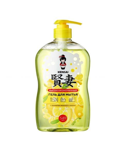 KENSAI конц. гель  для мытья посуды и детских принадлежностей с ароматом японского лимона 540 мл.  по выгодной цене в Москве