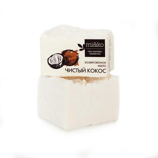 МиКо хозяйственное мыло чистый кокос 175 гр по выгодной цене в Москве