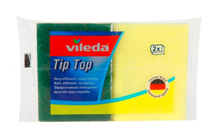 VILEDA Губка Тип-Топ 2шт по выгодной цене в Москве
