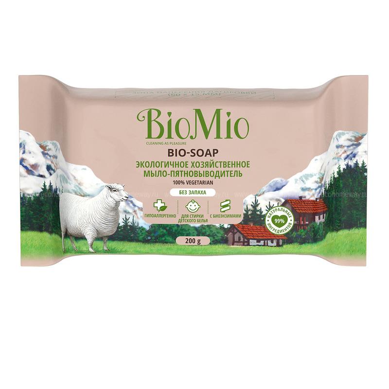 BIO MIO Мыло-пятновыводитель экологичное хозяйственное Без запаха 200 г  по выгодной цене в Москве