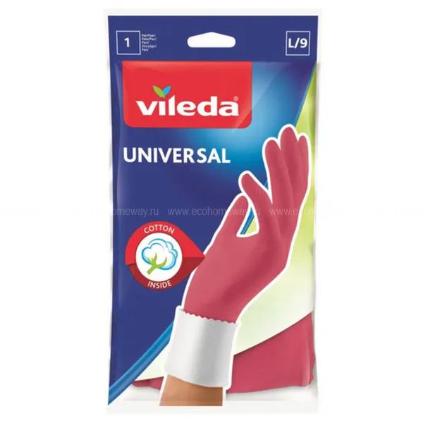 VILEDA Перчатки Универсал  L по выгодной цене в Москве