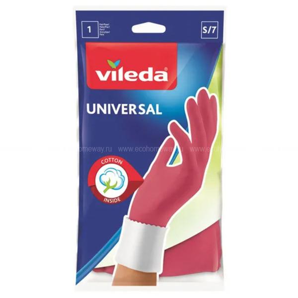 VILEDA Перчатки Универсал  S   по выгодной цене в Москве
