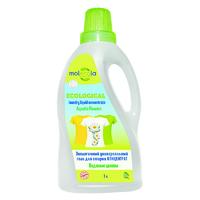 MOLECOLA Гель для стирки экологичный универсальный КОНЦЕНТРАТ Водяные цветы 1л