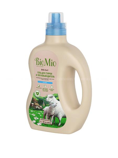 BioMio BIO-2-IN-1 Экологичный гель и пятновыводитель для стирки белья. Концентрат. Без запаха 1500 мл по выгодной цене в Москве
