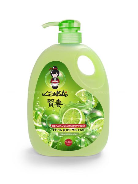KENSAI конц. гель для мытья посуды и детских принадлежностей с ароматом лайма 1000 мл  по выгодной цене в Москве