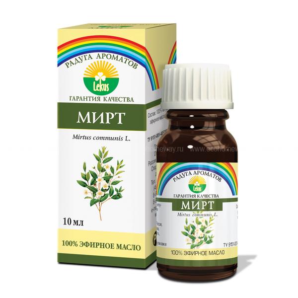 Lekus Эфирное масло Мирт 10 мл по выгодной цене в Москве