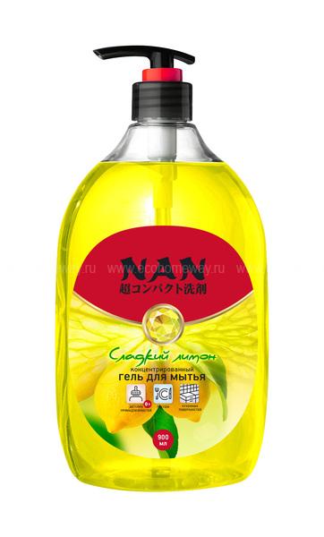 NAN средство для мытья посуды и детских принадлежностей сладкий лимон, флакон с доз. 900мл  по выгодной цене в Москве