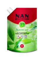 NAN средство для мытья посуды и детских принадлежностей зеленый чай, сменный блок 800 мл
