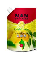 NAN средство для мытья посуды и детских принадлежностей сладкий лимон, сменный блок 800 мл