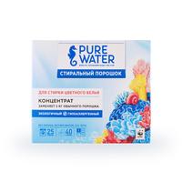 PURE WATER Стиральный порошок для цветного белья 800 гр