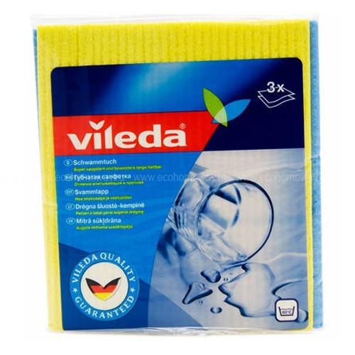 VILEDA Салфетка губчатая 3 шт по выгодной цене в Москве