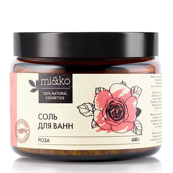 МИКО Соль для ванн Роза 400 гр по выгодной цене в Москве