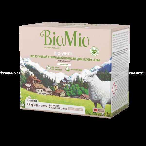 BioMio Стиральный порошок для белого белья 1500 гр по выгодной цене в Москве