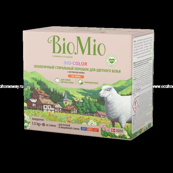 BioMio Стиральный порошок для цветного белья 1500 гр. по выгодной цене в Москве