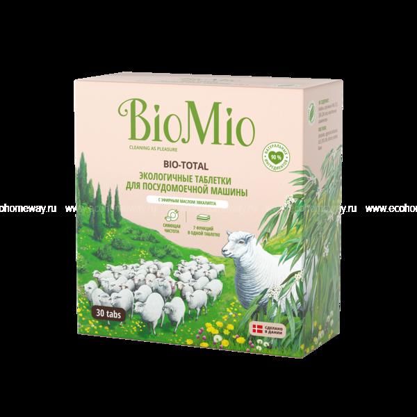 BioMio Таблетки для ПММ с эвкалиптом 30 шт по выгодной цене в Москве