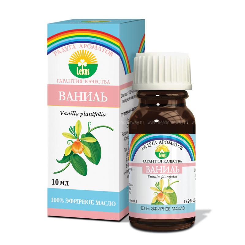 Lekus Эфирное масло Ваниль 10 мл по выгодной цене в Москве