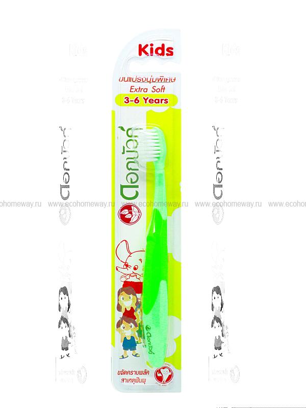 TWIN LOTUS Зубная щетка детская экстра мягкая (зеленая) 3-6 лет по выгодной цене в Москве