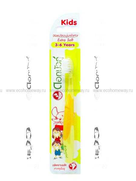 TWIN LOTUS Зубная щетка детская экстра мягкая (желтая) 3-6 лет по выгодной цене в Москве